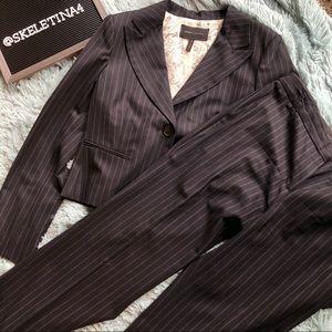 BCBGMaxAzria Blue Pinstripe Pant Suit